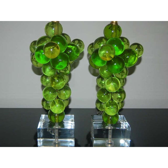 Vintage Bubble Table Lamps Pantani Green For Sale In Little Rock - Image 6 of 10