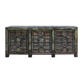 Chinese Green Console Cabinet