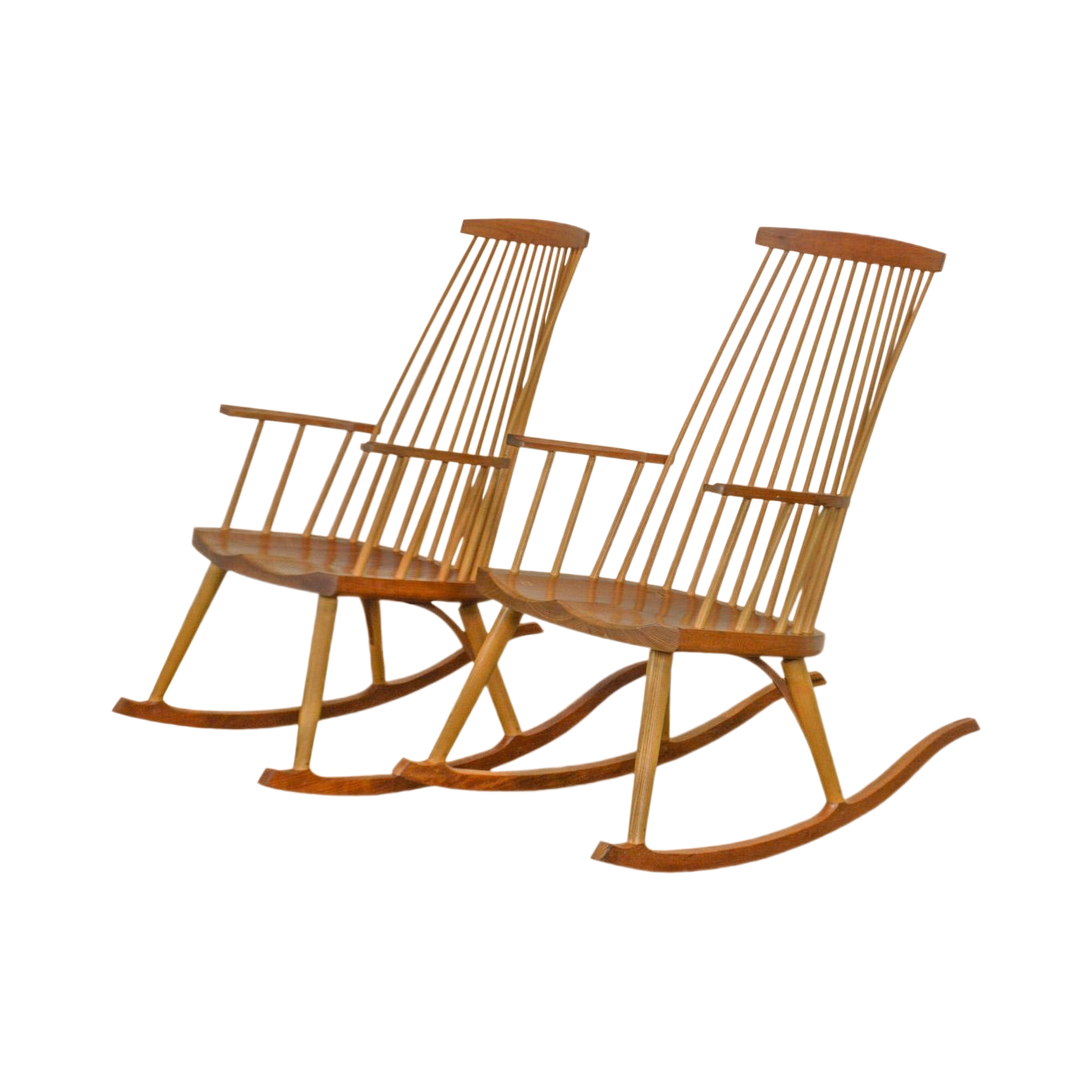 Thomas Moser New Gloucester Rockers Pair Cherry Rocking Chairs