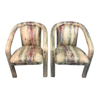 1980s Vintage Palm Beach Chairs- A Pair For Sale