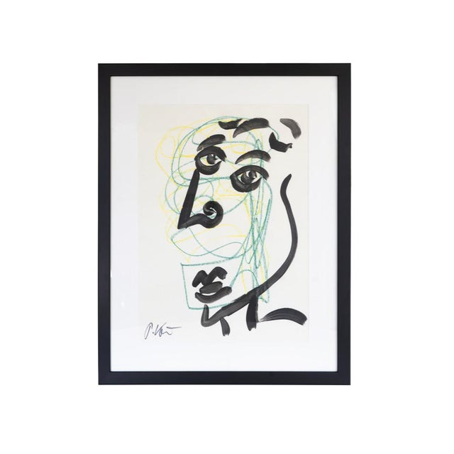Original Peter Keil Framed Figural Abstract Painting For Sale In Wichita - Image 6 of 6