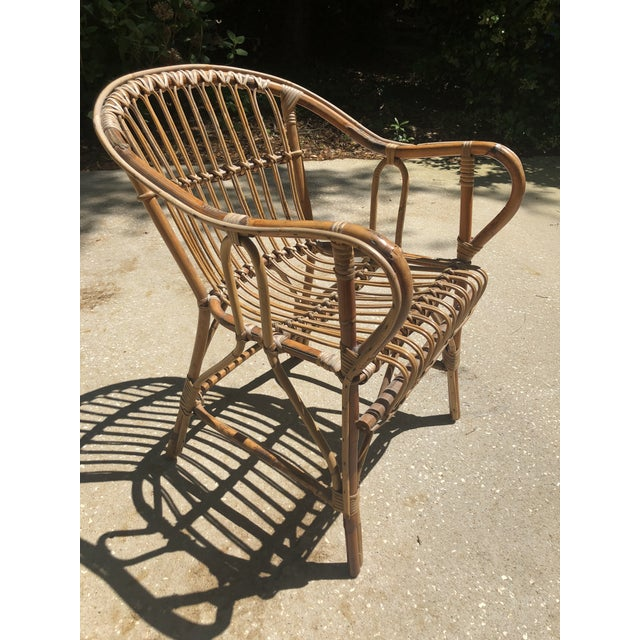 Franco Albini Style Bamboo Arm Chair For Sale - Image 9 of 12