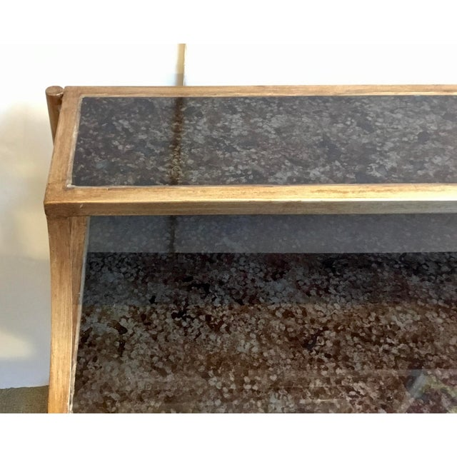 Modern Modern Reverse Painted Glass Bar Table For Sale - Image 3 of 7