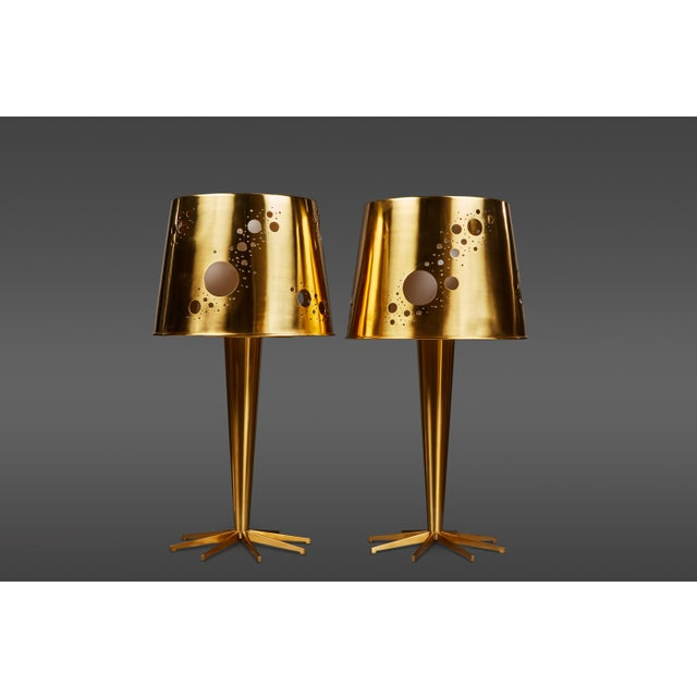 """Pair of Roberto Giulio Rida """"Lattea"""" Table Lamps For Sale - Image 12 of 12"""