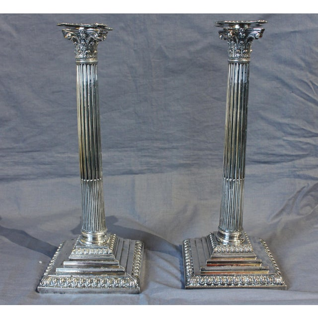 Late 18th Century Late 18th Century Corinthian Candlesticks - a Pair For Sale - Image 5 of 5