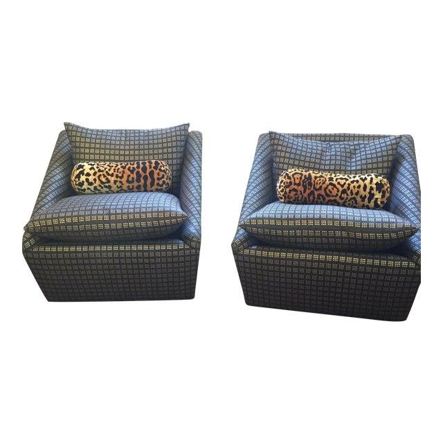 Kelly Wearstler Modern Armchairs - Pair - Image 1 of 8