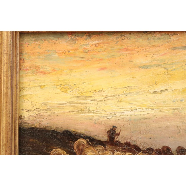American Barbizon Painting of Sheep at Evening by Francis Wheaton For Sale - Image 4 of 11