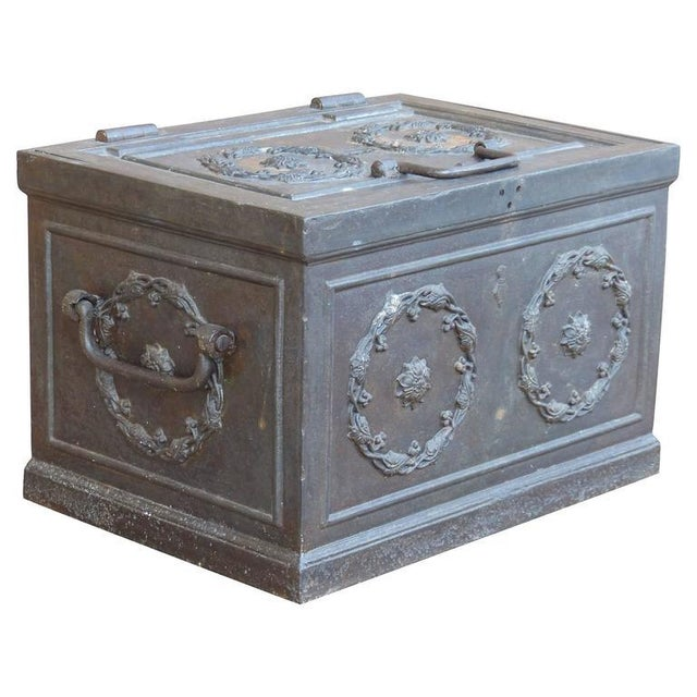 Traditional 19th Century Antique Decorative Iron Safe For Sale - Image 3 of 10