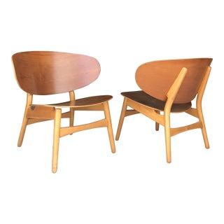 Hans Wegner for Fritz Hansen Shell Chairs For Sale