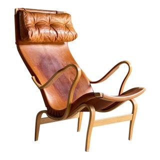 1970s Bruno Mathsson Pernilla 1 Easy Chair by Karl Mathsson For Sale