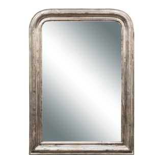 Large Louis Philippe Silver Gilt Mirror For Sale