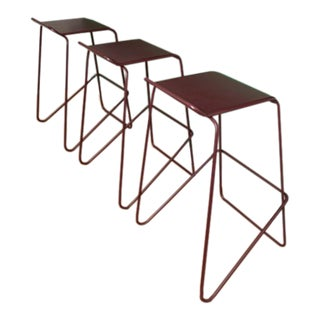 Modern Stacking Barstools- Set of 3 For Sale