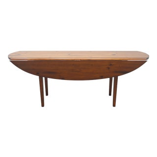 Late 20th Century Ralph Lauren Maple Drop Leaf Harvest Table For Sale