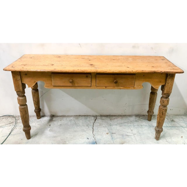 Antique French Pine Console Table - Image 2 of 5