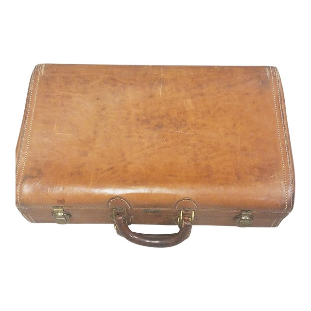 Mid-Century Modern Hartmann Leather Suitcase For Sale