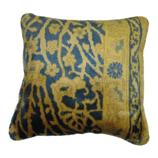 Indian Silk Rug Pillow For Sale