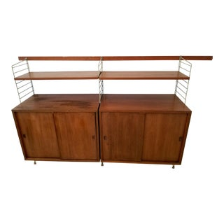 "Mid-Century Shelving Units by Kajsa & Nils ""Nisse"" Strinning for String For Sale"