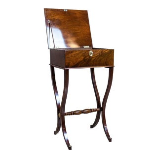 19th-Century Biedermeier Sewing Table For Sale