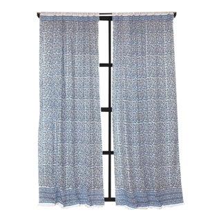 """Anna 45"""" X 96"""" Blue Curtain For Sale"""