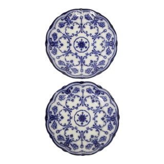Conway Flow Blue Wall Plates, Pair For Sale