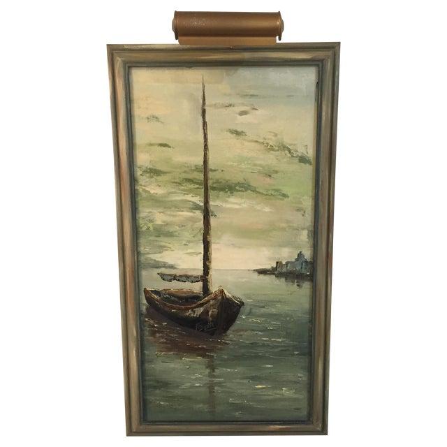 Original Oil Painting of Schooner by N. Bueti - Image 1 of 5