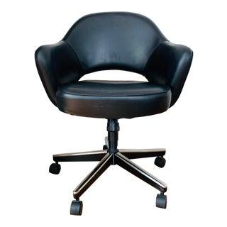 Modern Sarrinen Executive Leather Arm Chair For Sale