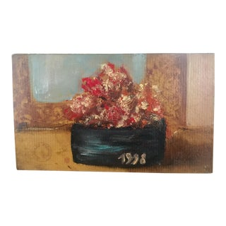 French Art School Still Life Flowers Botanical Oil Painting For Sale