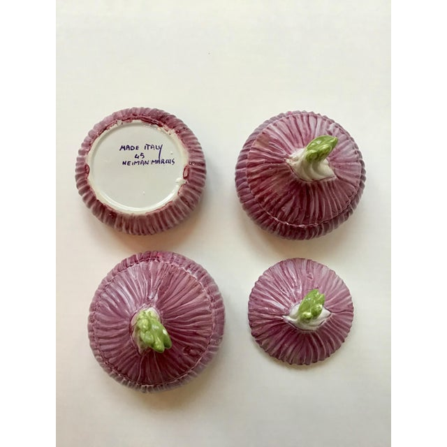 Italian Majolica Mini Purple Onion Tureens for Neiman Marcus - Set of 3 For Sale - Image 4 of 7