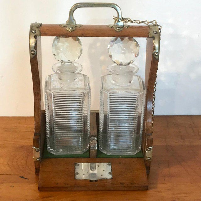 Traditional Mappin Bros. Diminutive Tauntless With Cut Glass Decanters For Sale - Image 3 of 13