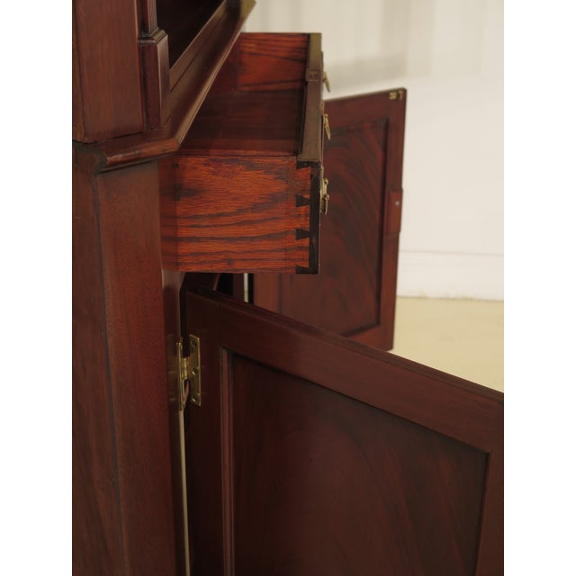 1950s Chippendale John Bair Mahogany Corner China Cabinet For Sale - Image 4 of 13