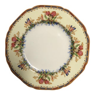 1930's Vintage Painted Dessert Plates- Set of 12 For Sale
