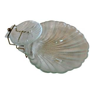 Jeanette Seashell Chip 'N Dip Platter For Sale