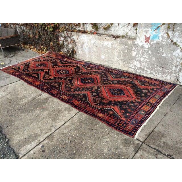 Persian Handmade Rug For Sale - Image 4 of 4