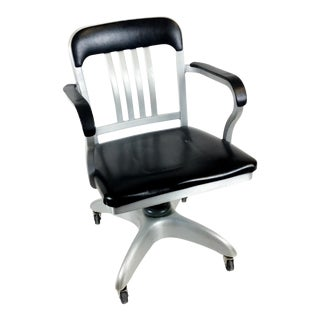Retro Brutalist Tanker Aluminum Office Chair by GoodForm For Sale