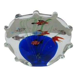 Small Glass Aquarium Paperweight