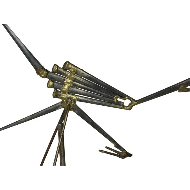 Mid-Century Modern Mid Century Modern Kinetic Sculpture of a Road Runner Circa 1950s For Sale - Image 3 of 7