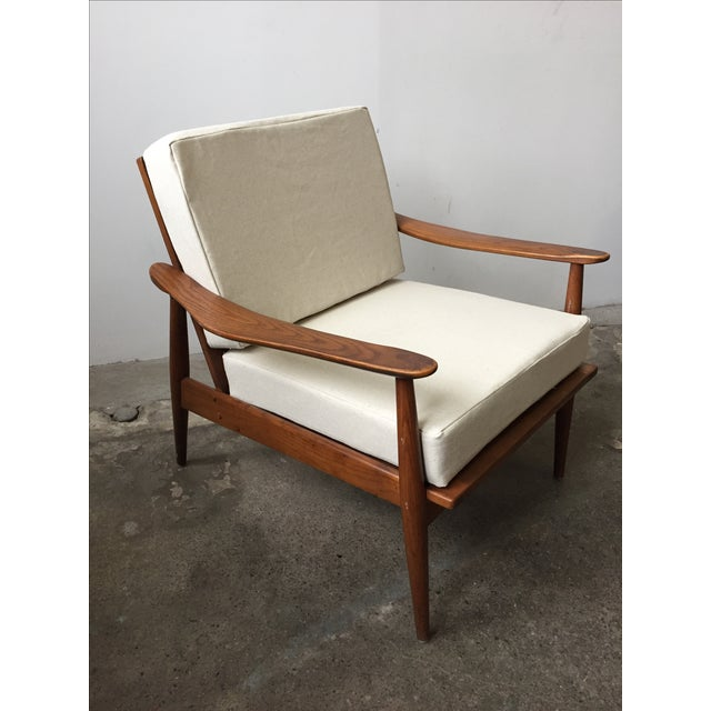 Oak Mid-Century Armchair-Single Chair - Image 4 of 11