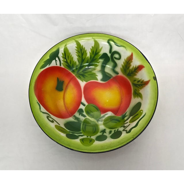 1960s Enamel Kitchen Accessories - Set of 5 For Sale In Raleigh - Image 6 of 10