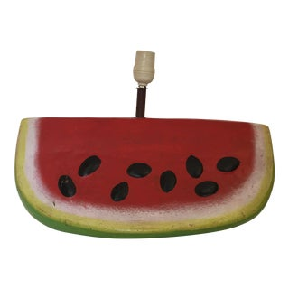 Vintage Terra Cotta Watermelon Slice Lamp