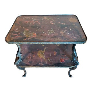 19th / 20th Century French Art Nouveau Ebonized Japonisme Tea Table For Sale
