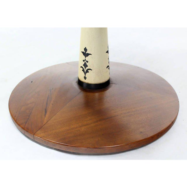 Mid-Century Modern Mid-Century Modern Solid Walnut Weighted Base Round Side Table For Sale - Image 3 of 10