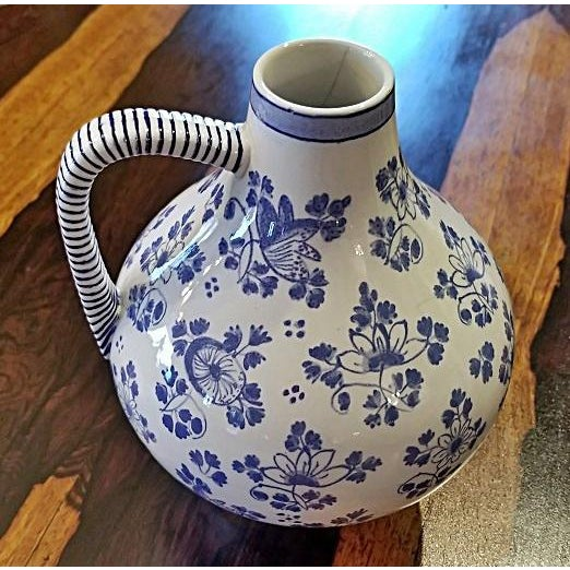 Early 19c French Utzschneider & Cie Sarreguemines Pitcher For Sale - Image 11 of 11