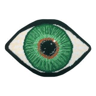 Custom Made Green Eye Sculpted Pillow For Sale