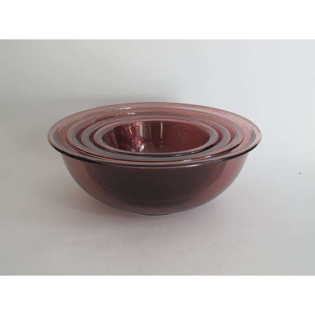 Purple Nesting Pyrex Bowls, Set of 4 - Image 2 of 7