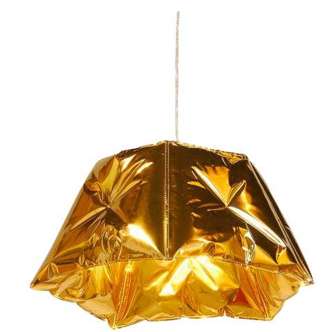 Dent Gold Metallic Pendant Light - Image 1 of 2