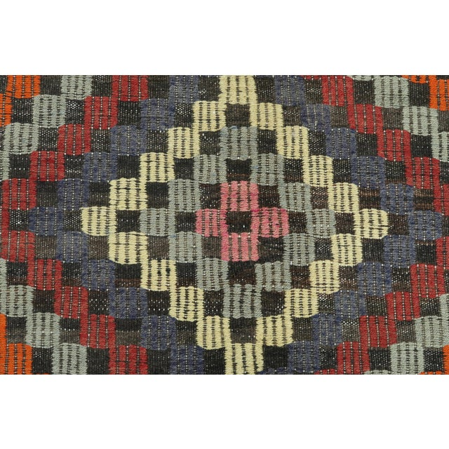 "Red Vintage Turkish Kilim Rug-6'4'x9'2"" For Sale - Image 8 of 13"