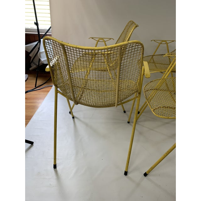 Russell Woodard Mid-Century Modern Sculptura Outdoor Dining Chairs - Set of 6 For Sale - Image 9 of 13
