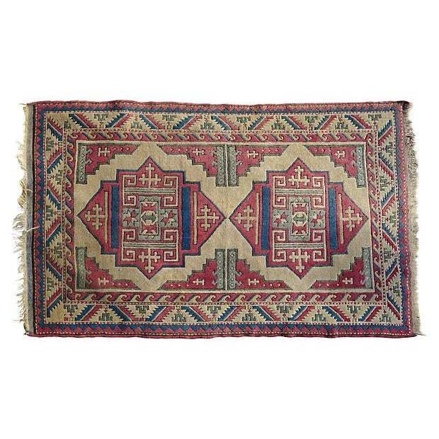 Turkish Hand-Knotted Wool Rug - 6′5″ × 4′3″ - Image 1 of 6