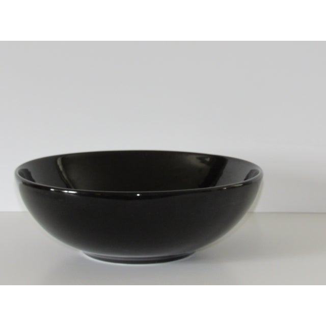 Hall Pottery Black Bowl - Image 3 of 5