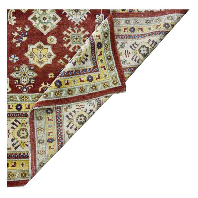 Afghan Afghan Kazak Wool Rug - 9'x11'11'' For Sale - Image 3 of 4